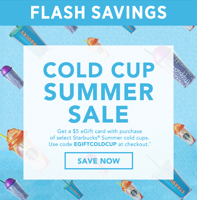 FLASH SAVINGS | COLD CUP SUMMER SALE | SAVE NOW