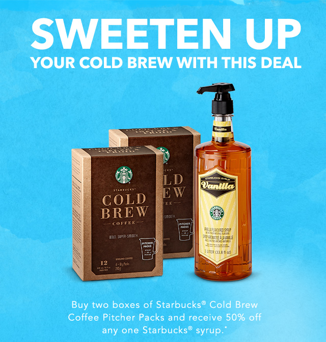 SWEETEN UP YOUR COLD BREW WITH THIS DEAL